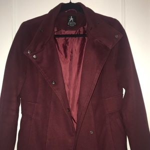Atmosphere maroon pea coat